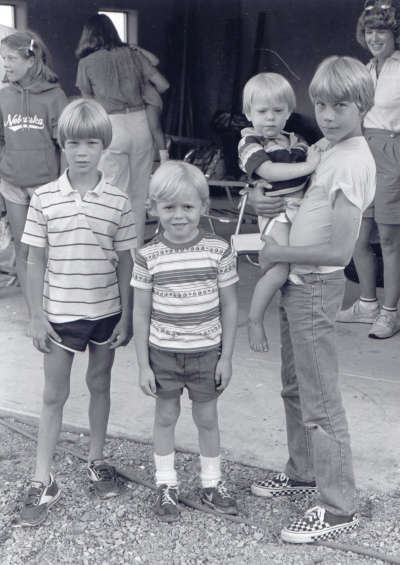 Paul, Blake, Colin, & Eric - St. David 1983