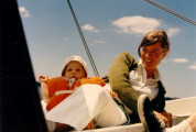 Eric's first sail (& Tucker) - July 1971